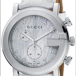 ⏱🔥Gucci G Round Watch White with Diamonds 44MM